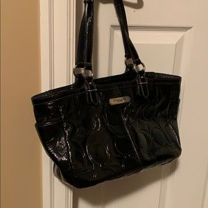 Coach Gallery Embossed Signature Patent Leather